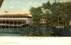 Boat House And Dance Hall At Rhodes On The Pawtucket