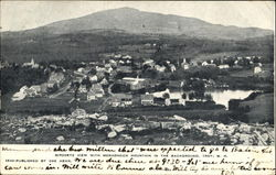Birdseye View With Monadnock Mountain In The Background Postcard