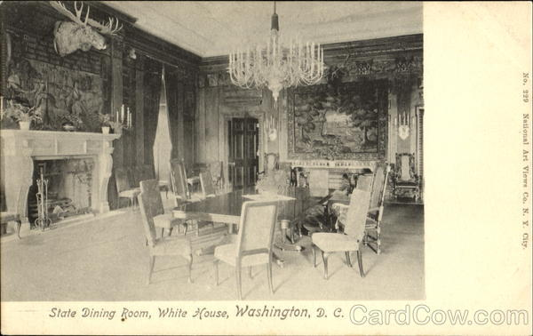 State Dining Room, White House Washington District of Columbia