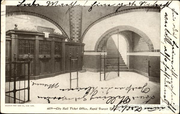 City Hall Ticket Office Rapid Transit Tunnel New York City