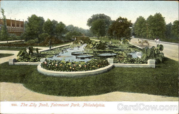 The Lily Pond Fairmount Park Pennsylvania