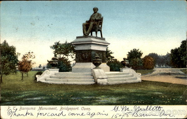 Barnum's Monument Bridgeport Connecticut