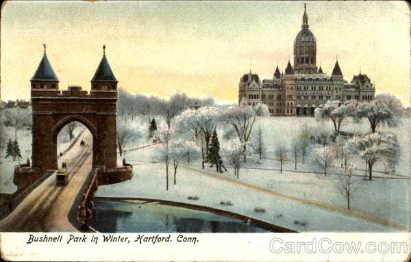 The Hartford Login >> Bushnell Park In Winter Hartford, CT