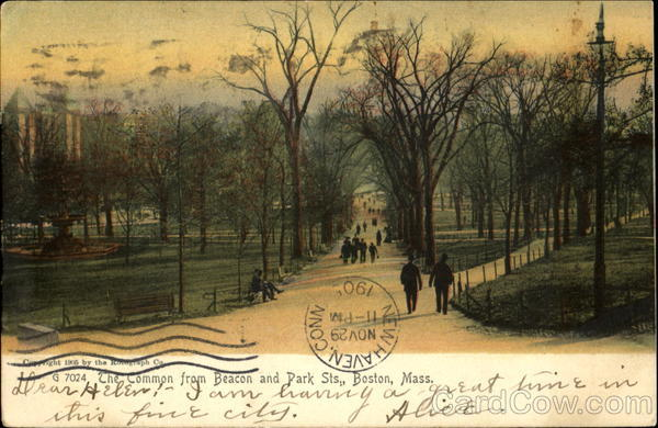 The Common From Beacon And Park Sts. Boston Massachusetts
