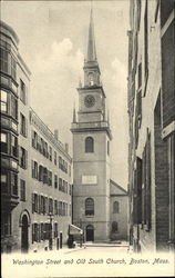 Washington Street And Old South Church