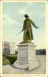 Monument Of Colonel Wm. Prescott, Bunker Hill