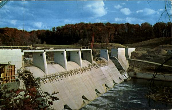 Dam Over The Shenango River Sharpsville Pennsylvania