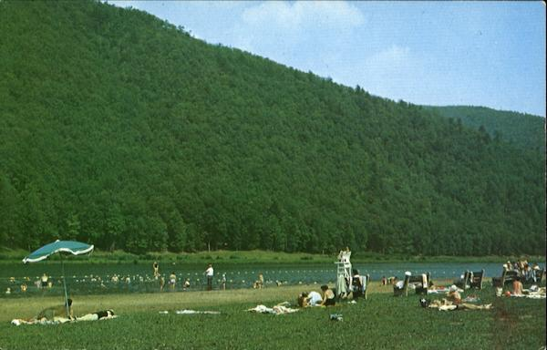 Beach Area At George B. Stevenson Dam, State Route 872 Sinnamahoning Pennsylvania