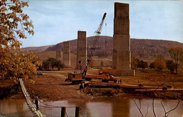Allegheny Dam And Reservoir Construction Kinzua Dam  Pa