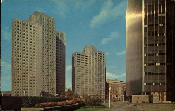 Showing Three Of The Gateway Buildings Pittsburgh Pennsylvania