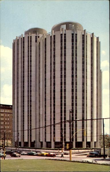 Distinctive Dormitory Towers, University of Pittsburgh Pennsylvania