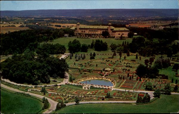 Aerial View Of Beautiful Hershey Rose Gardens & Arboretum Pennsylvania