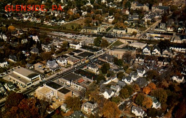 Aerial View Of Glenside Pennsylvania