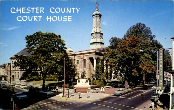 Chester County Court House, Market and High Streets West Chester Pennsylvania