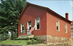 Little Red Schoolhouse Postcard