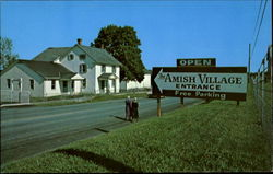 The Amish Village Postcard