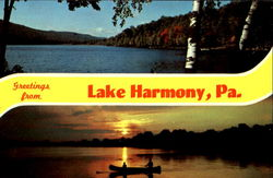 Greetings From Lake Harmony Postcard