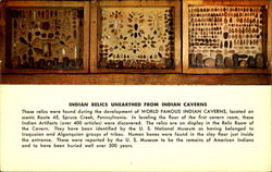 Indian Relics Unearthed From Indian Caverns Postcard