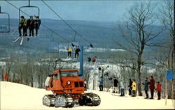 Triple Chair Lift At Mid-Mountain