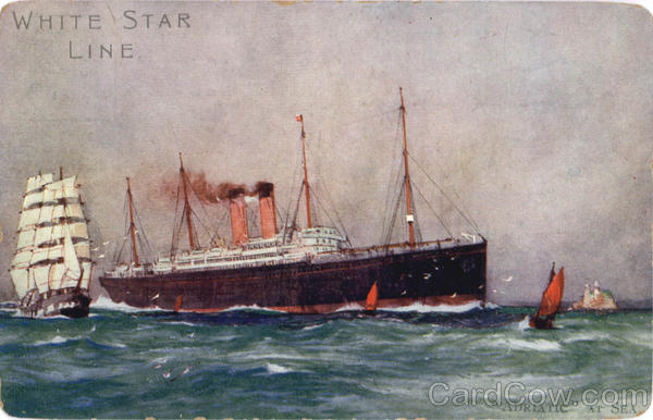 White Star Line Adriatic at Sea Boats, Ships