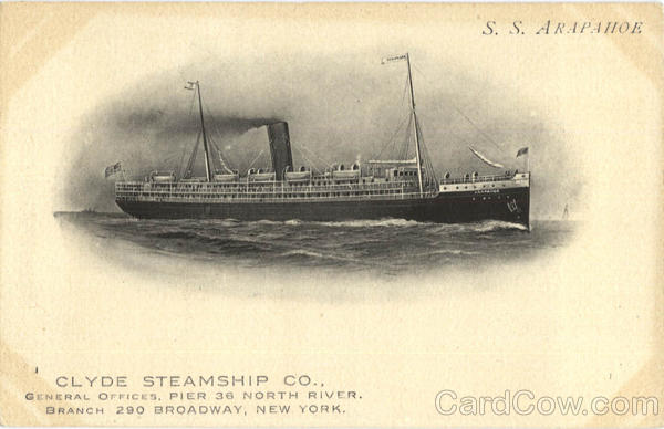 Clyde Steamship Co S.S. Arapahoe Boats, Ships
