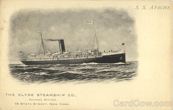 Clyde Steamship Co S.S. Apache Boats, Ships