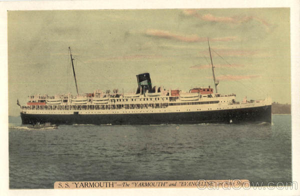 S.S. Yarmouth Eastern Steamship Lines Boats, Ships