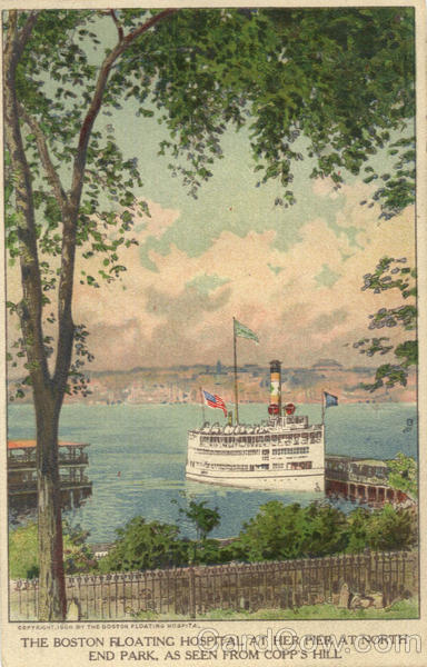 Boston Floating Hospital at North End Park from Copp's Hill