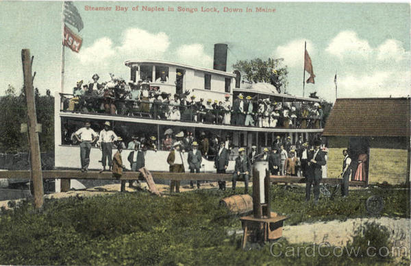 Steamer Bay of Naples in Songo Lock Maine Boats, Ships