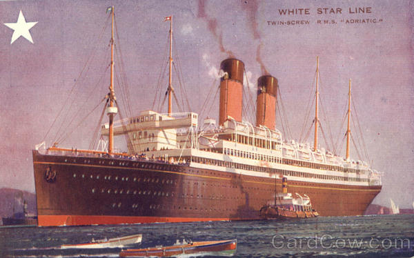 White Star Line Twin-Screw R.M.S. Adriatic Boats, Ships