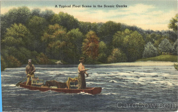 Fishing: A Typical Float Scene in the Scenic Ozarks
