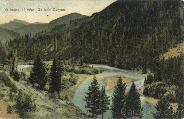 Glimpse of West Gallatin Canyon Montana