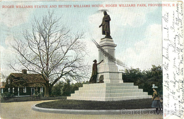Roger Williams Statue And Betsey Williams House, Roger Williams Park Providence Rhode Island
