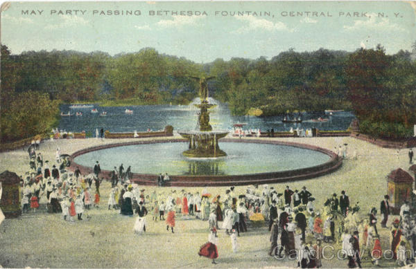 May Party Passing Bethesda Fountain Central Park New York