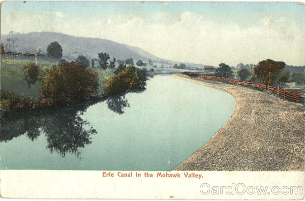 Erie Canal in the Mohawk Valley New York