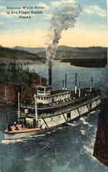 Steamer White Horse in Five Finger Rapids, Alaska