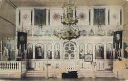 Interior of Greek Church Postcard