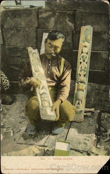 161 Totem Maker Alaska Native Americana