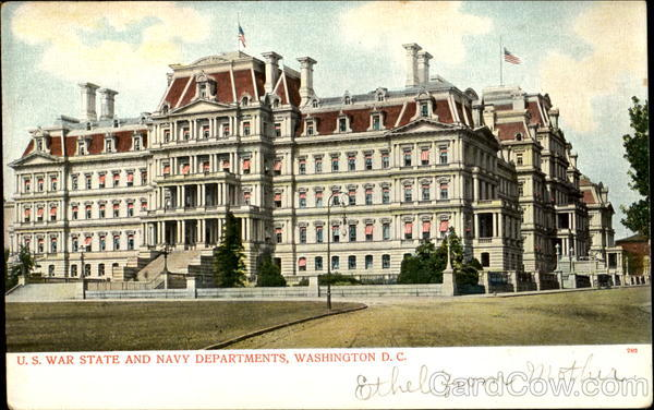 U. S. War State And Navy Departments Washington District of Columbia