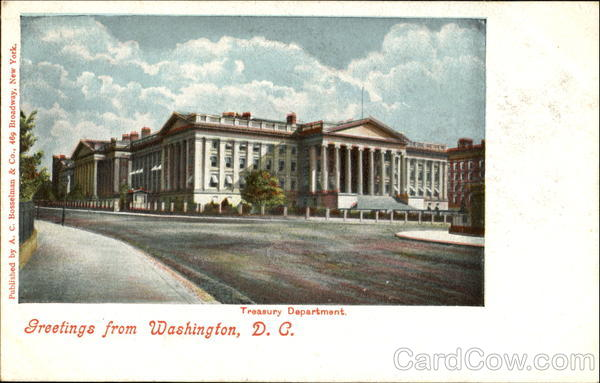 Greetings From Washington Treasury Department District of Columbia