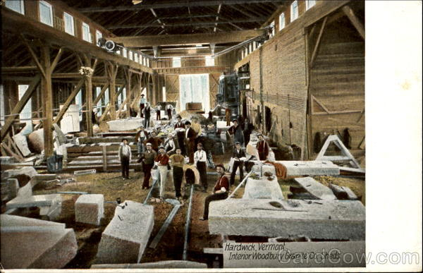 Interior Woodbury Granite Co Sheds Hardwick Vt