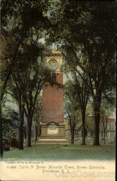 Carrie M. Brown Memorial Tower, Brown University Providence Rhode Island