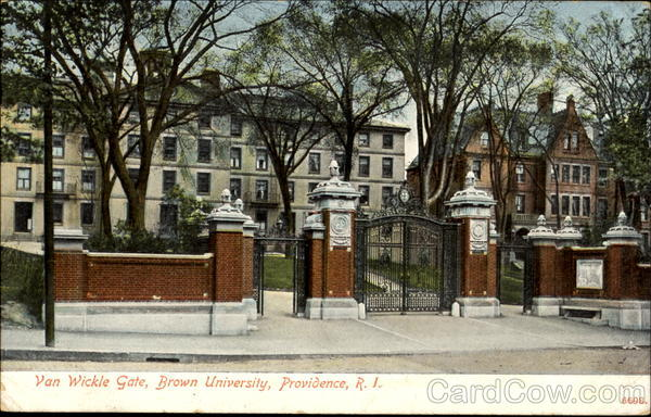 Van Wickle Gate, Brown University Providence Rhode Island