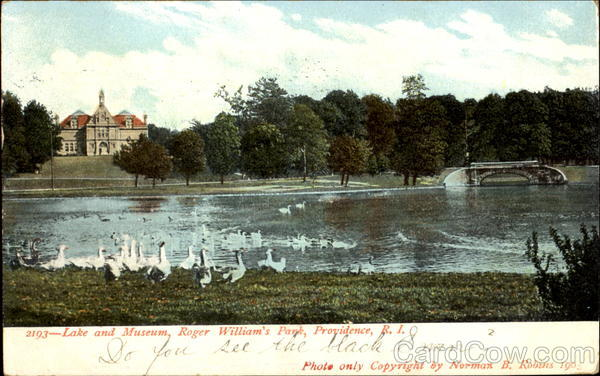 Lake And Museum, Roger Williams Park Providence Rhode Island
