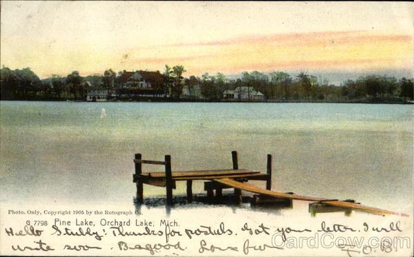 Pine Lake Orchard Lake Michigan