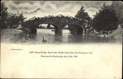 Stone Bridge Stow Lake, Golden Gate Park Postcard