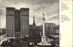 St. Francis Hotel And Union Square Postcard