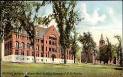 Williams Hall And Main Building, University of Vermont Postcard