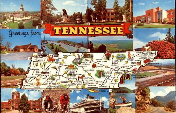 Greetings From Tennessee Maps