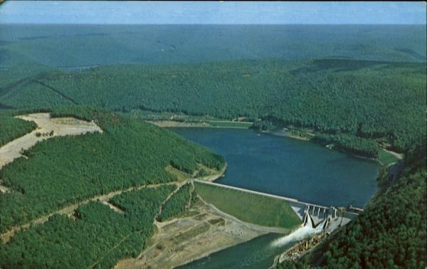 Aerial View Of Kinzua Dam Salamanca New York